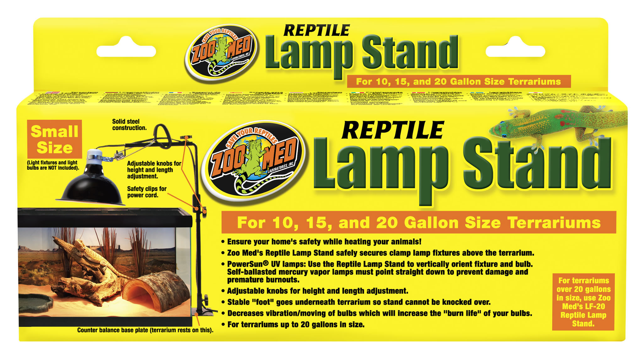 Zoo Med Reptile Lamp Stand Small Reptile Centre
