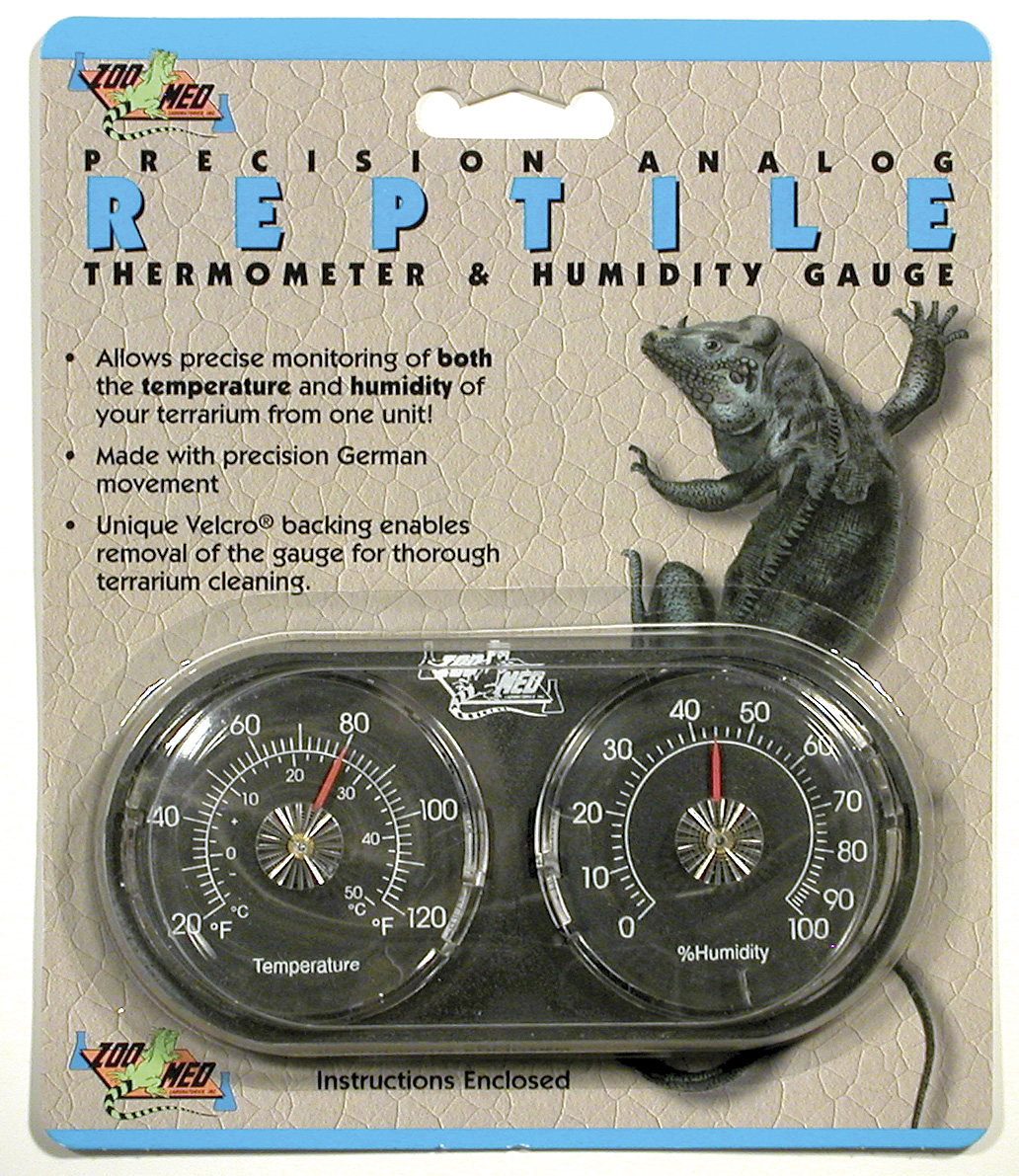 Zoo Med Dual Thermometer Humidity Gauge Reptile