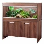 Vivexotic Repti-Home Maxi Extra Large Walnut Vivarium & Cabinet