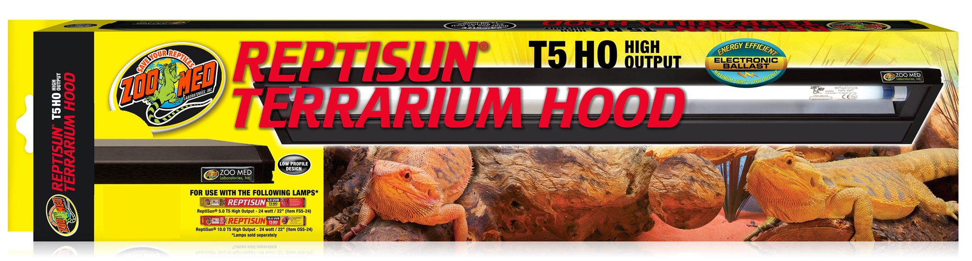 Zoo Med Reptisun T5 Ho Terrarium Hood 120cm For Only 163 58 49