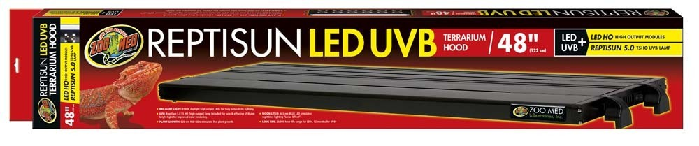 Zoo Med Reptisun Led Uvb Hood 122cm Reptile