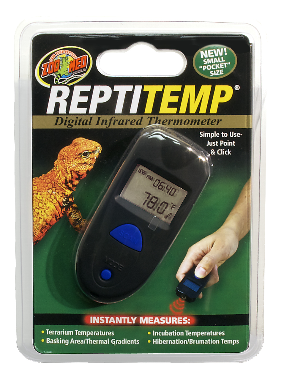 Zoo Med Reptitemp Digital Ir Thermometer Reptile