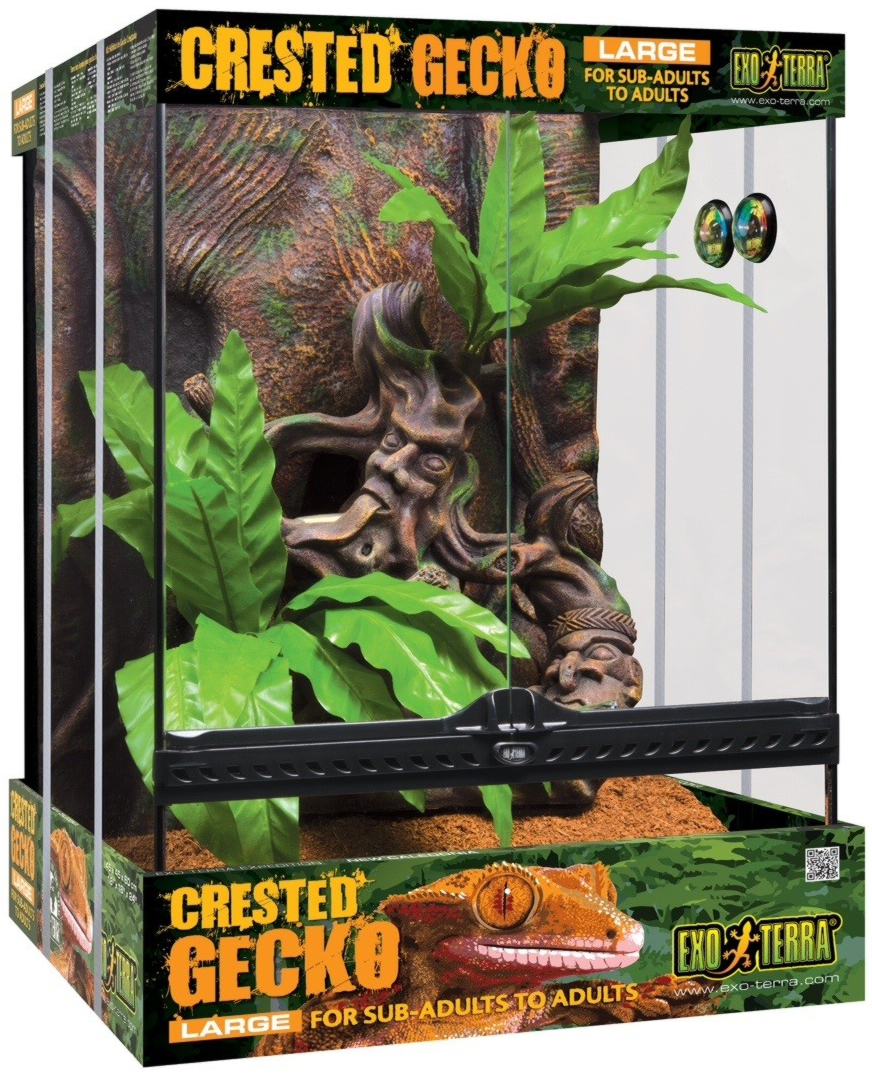 Exo Terra Crested Gecko Kit 45x45x60cm Reptile