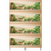 Vivexotic Repti-Home 4-Stack Large Vivariums 1150mm Oak with Feet