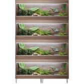 Vivexotic Repti-Home 4-Stack Large Vivariums 1150mm Walnut with Feet