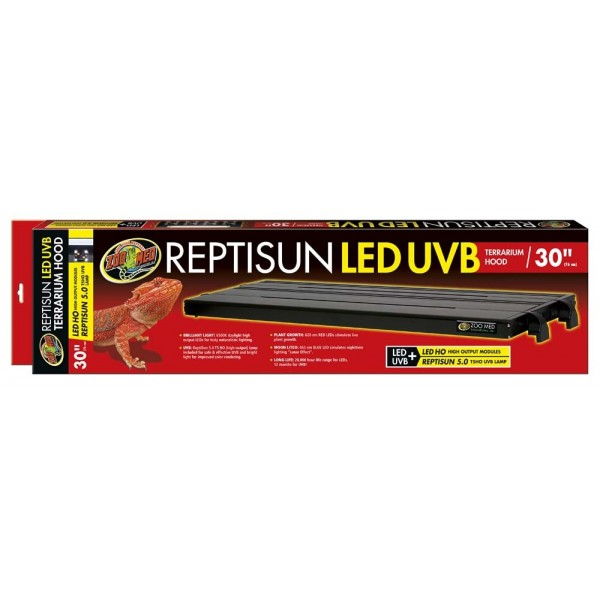 Zoo Med Reptisun Led Uvb Hood 76cm Reptile Centre