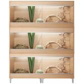 Vivexotic XL Maxi 3-Stack Vivariums 1375mm Beech with Feet