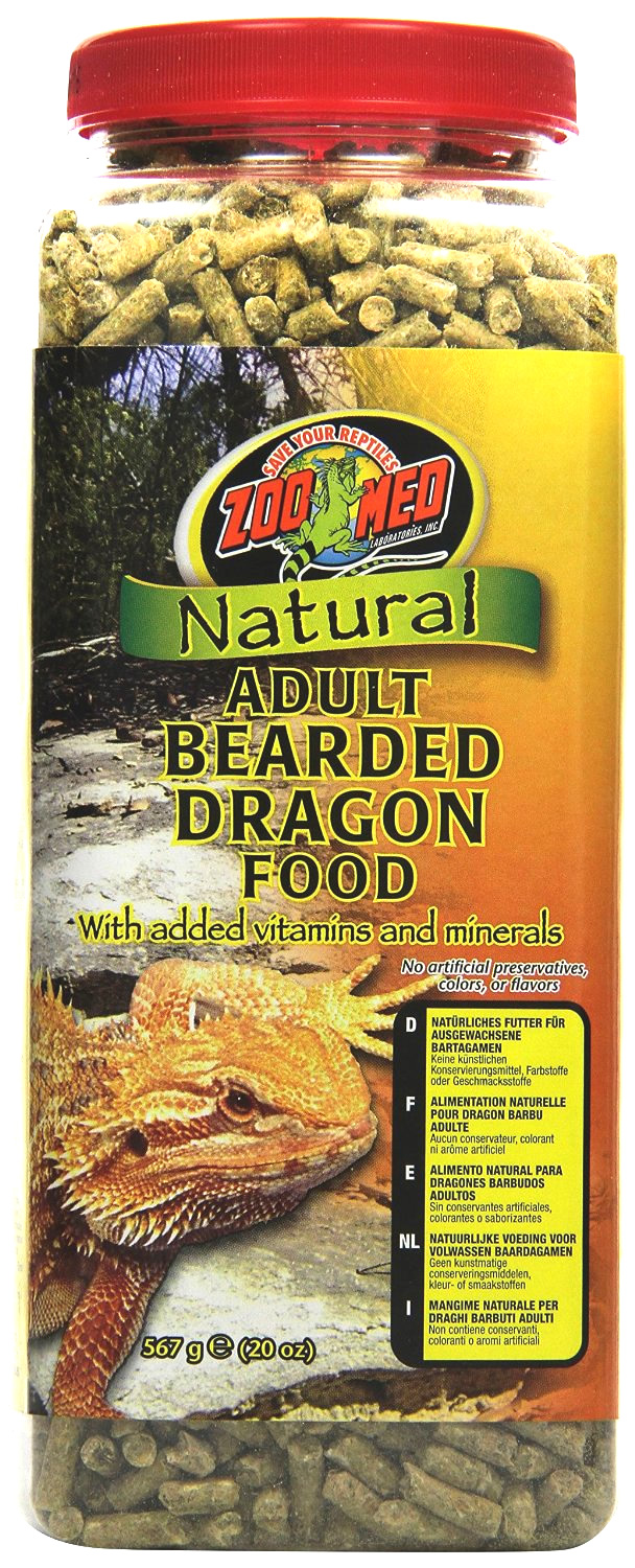 Zoo Med Adult Bearded Dragon Food 567g Reptile