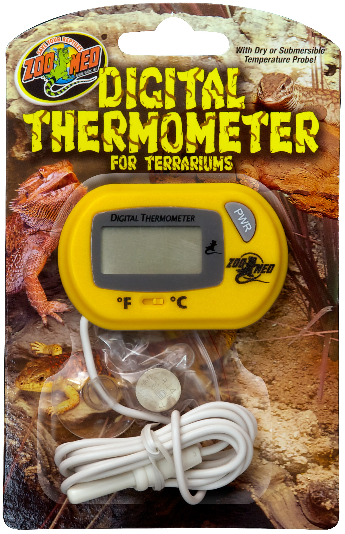 Zoo Med Digital Terrarium Thermometer Reptile
