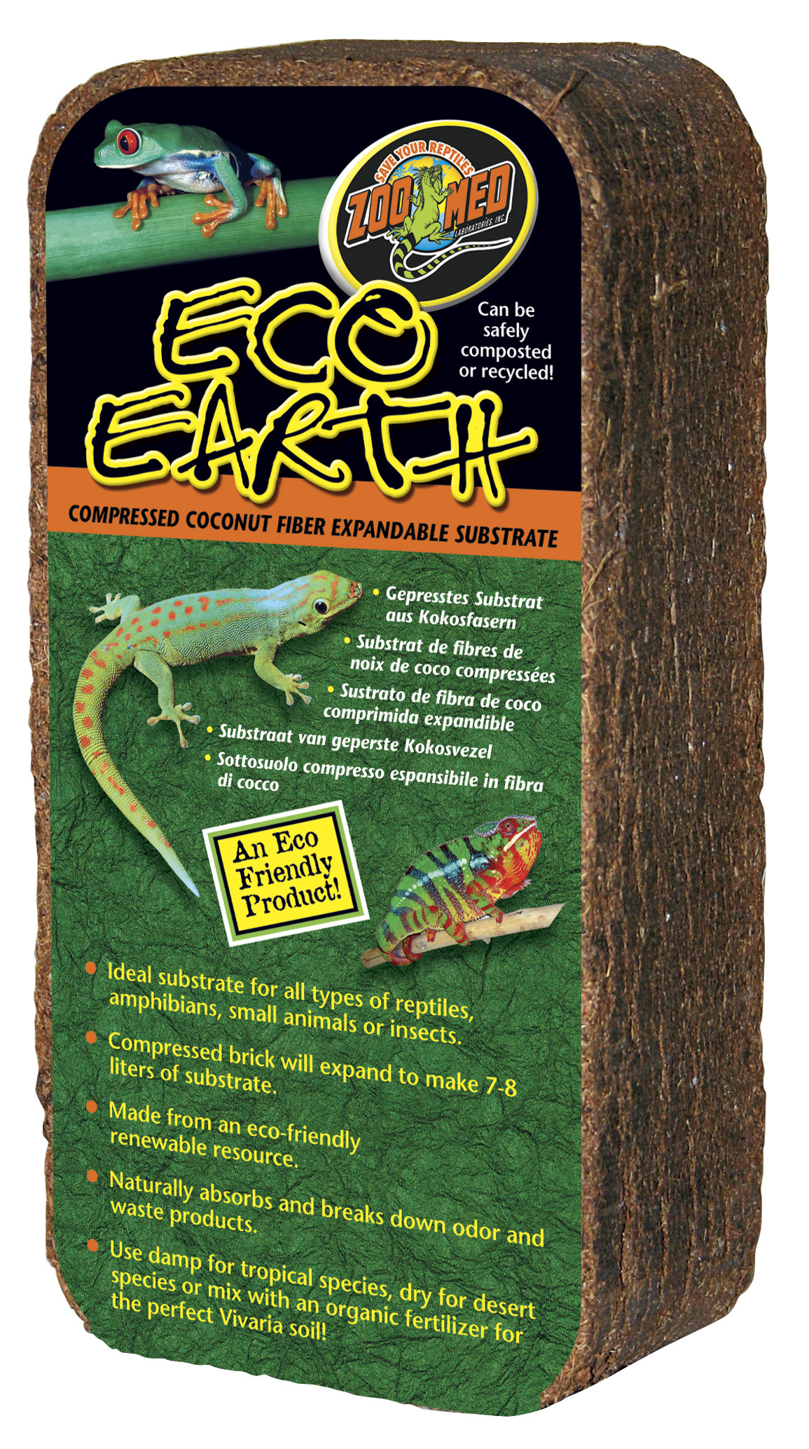 Zoo Med Eco Earth Substrate Block Reptile Centre
