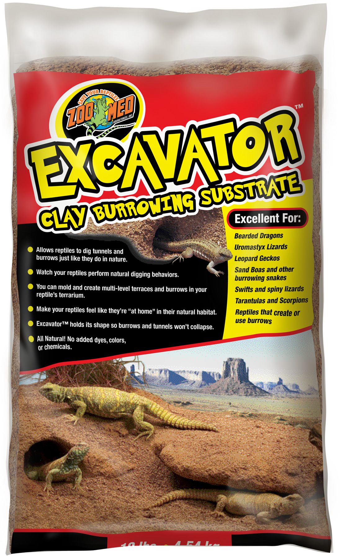 Zoo Med Excavator Clay Substrate 4 5kg Reptile
