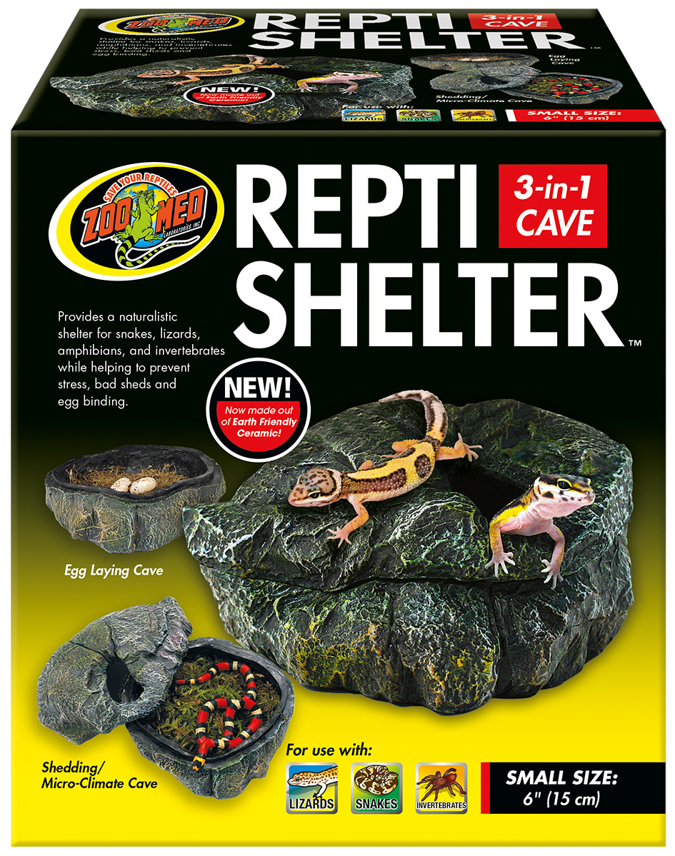 Zoo Med Repti Shelter 3in1 Cave Small Reptile