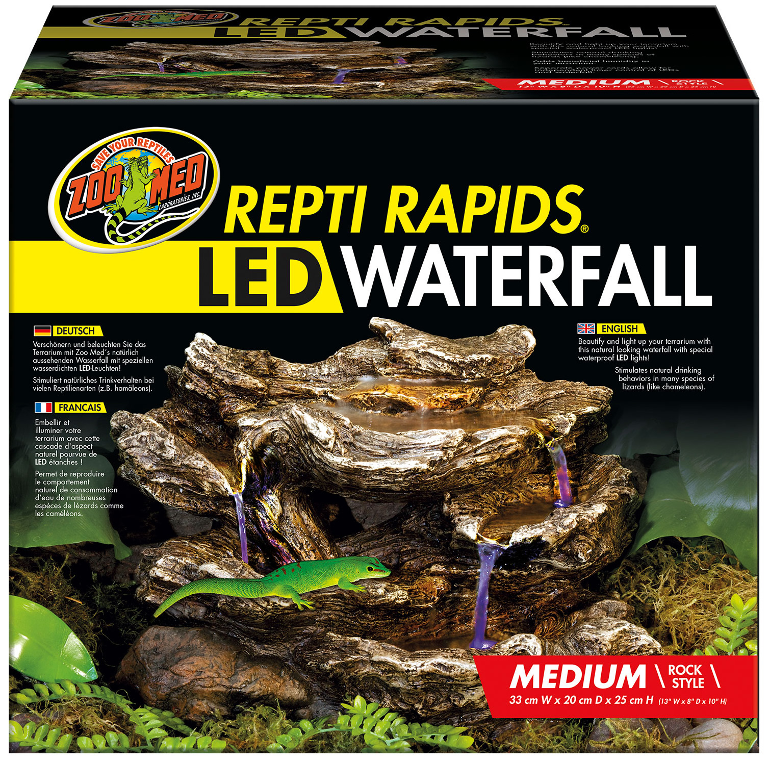Zoo Med Repti Rapids Led Waterfall Medium Rock