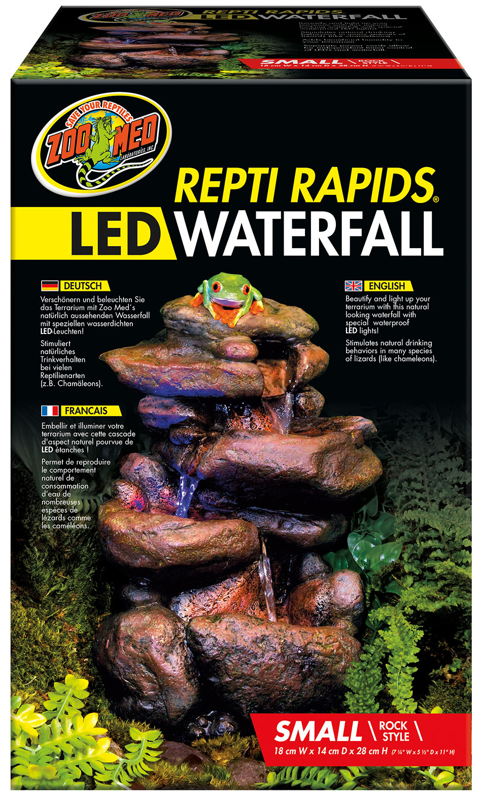 Zoo Med Repti Rapids Led Waterfall Small Rock
