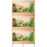 Vivexotic Repti-Home 3-Stack Vivariums - Maxi  Medium Oak 86cm
