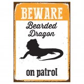 Beware Sign Beardy 'Tin'