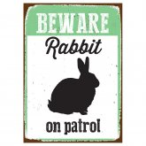 Beware Sign Rabbit 'Tin'