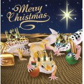 Leopard Geckos Kings Christmas Cards - 10 Pack