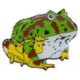 Blue Bug Pin Badge Horned Frog