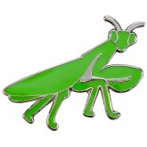 Blue Bug Pin Badge Mantis