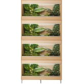 Vivexotic Repti-Home 4-Stack Vivariums - Medium Oak with Feet 86cm