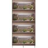 Vivexotic Repti-Home 4-Stack Vivariums - Medium Walnut with Feet 86cm