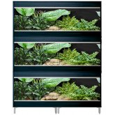 Vivexotic Repti-Home 3-Stack Vivariums - Maxi XL Black 137.5cm