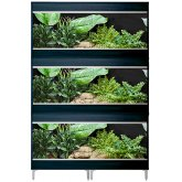 Vivexotic Repti-Home 3-Stack Vivariums - Maxi Large Black 115cm