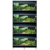 Vivexotic Repti-Home 4-Stack Vivariums - Medium Black with Feet 86cm