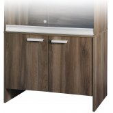 Vivexotic Cabinet - Medium Walnut 86x49x64.5cm