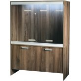 Vivexotic Viva+ Arboreal Vivarium & Cabinet - Large-Deep Walnut