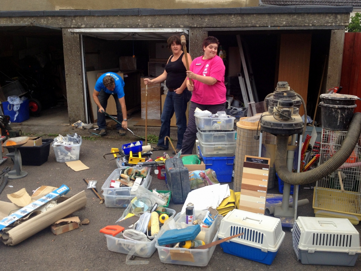 Clear out in the garages!