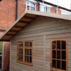 The shed office around the back finished