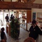 Customers in the newly built store