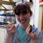 Sarah and her crested geckos
