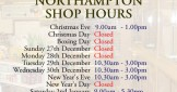 Christmas opening hours, in shop & online