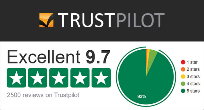 2500 Trustpilot Reviews