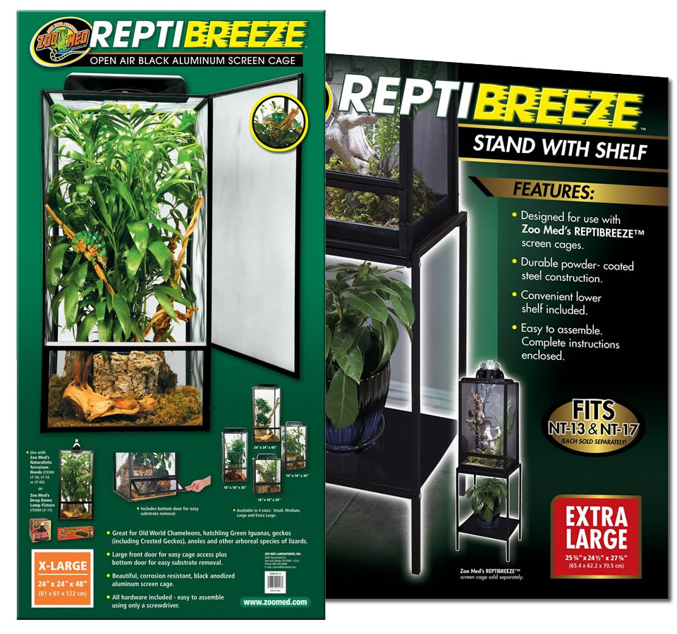 Zoo Med Reptibreeze Screen Cage X Large Amp Stand