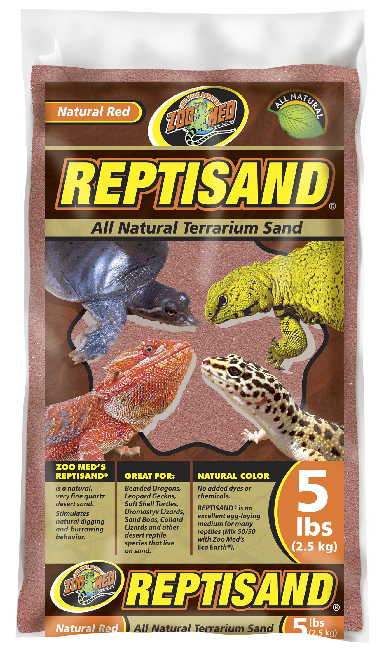 Zoo Med Reptisand Natural Red 2 25kg