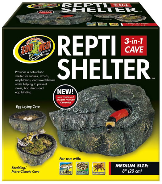 Zoo Med Repti Shelter 3in1 Cave Medium Reptile