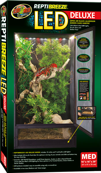 Zoo Med Reptibreeze Led Cage Medium 41x41x76cm