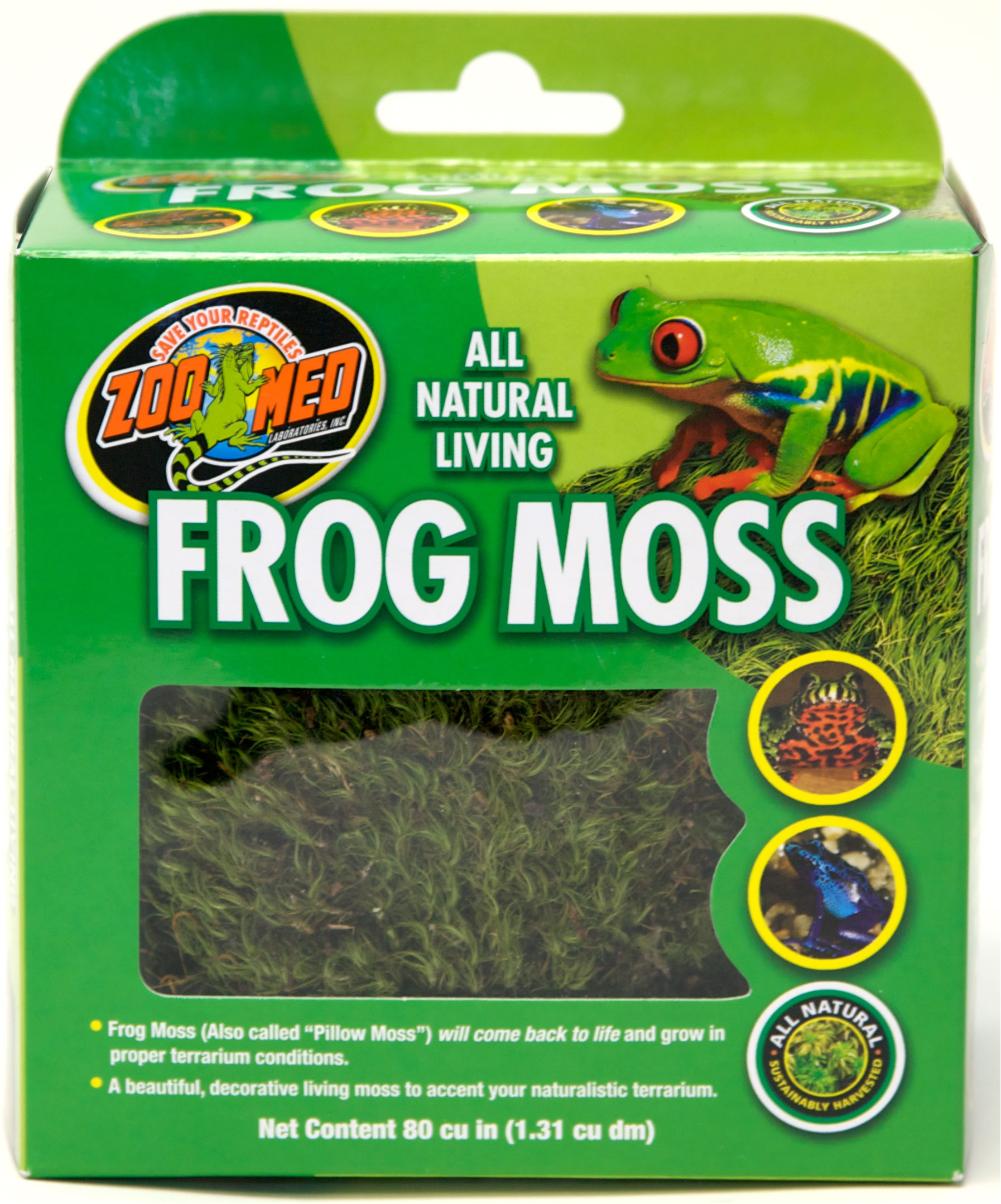 Zoo Med All Natural Frog Moss 1 3l Live Plants Reptile Centre