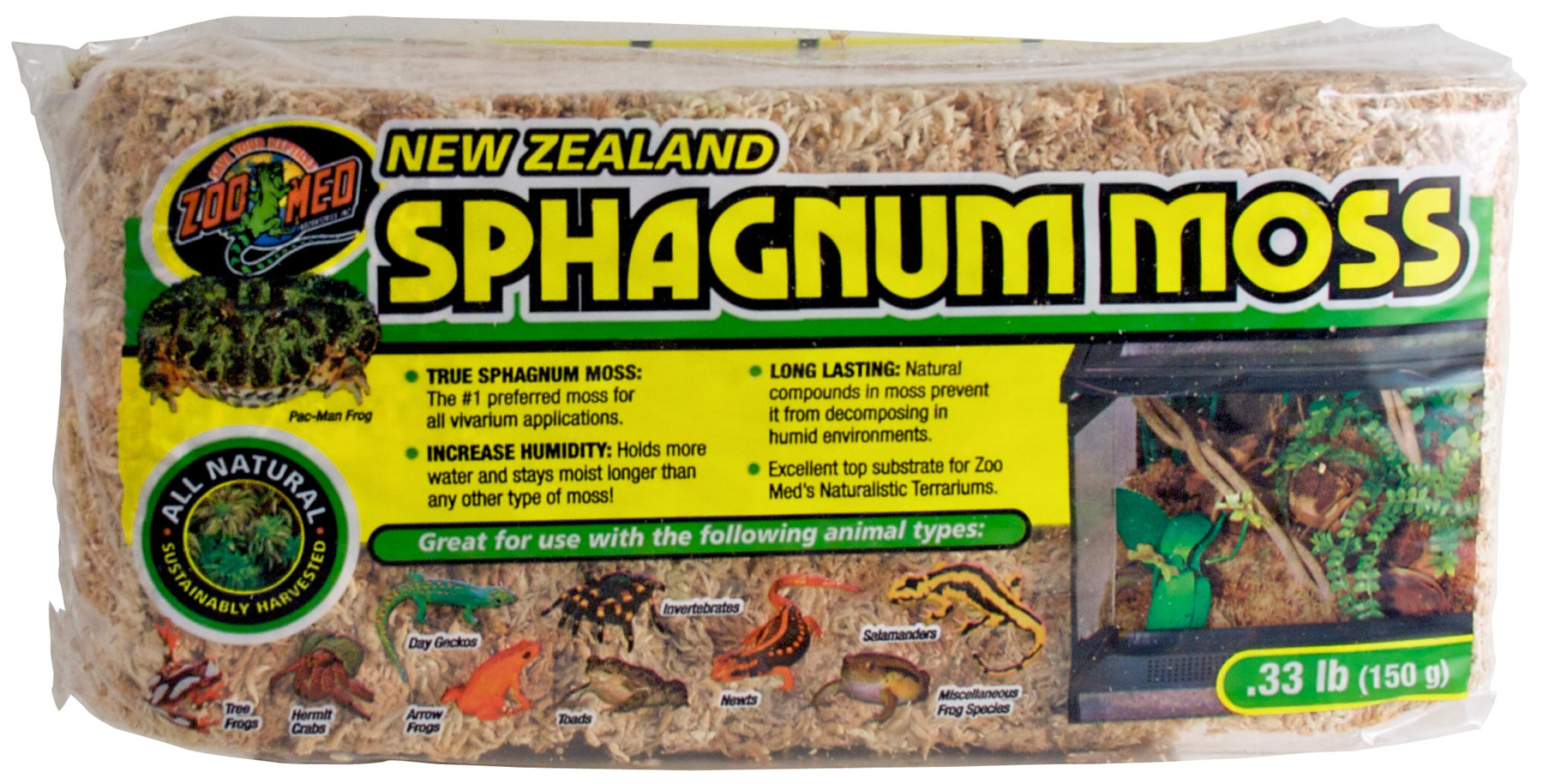 Zoo Med New Zealand Sphagnum Moss 150g Reptile