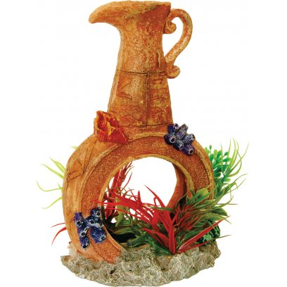 AquaSpectra Pot with Airstone & Plants 12.5cm