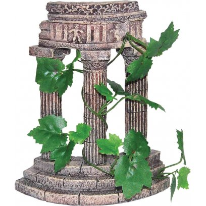 AquaSpectra Rustic Columns with Plants