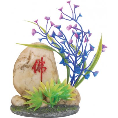 AquaSpectra Stone with Plants 11cm