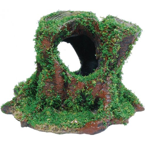 AquaSpectra Tree Stump with Moss 10cm