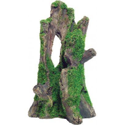 AquaSpectra Tree Stump with Moss 12.5cm