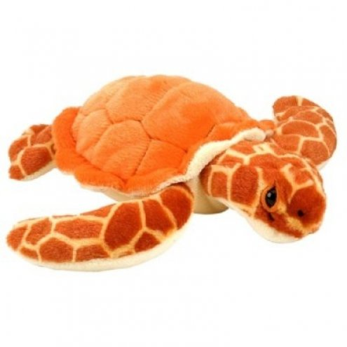 Wild Republic Bean Bag Orange Turtle 25cm Soft Toy