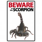 Beware of the Scorpion sign